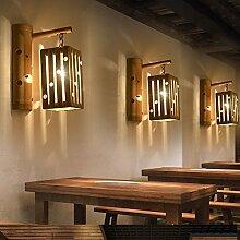 Modern LED Wandleuchte Antike Bambuskunst der