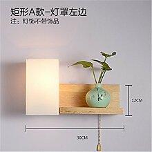 Modern LED Wandleuchte Hölzerne Wandlampe