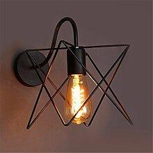 Modern LED Wandleuchte Linie fünfzackiger Stern