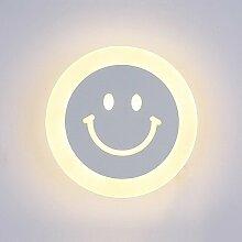 Modern LED Wandleuchte Smiley-Gesicht Runder