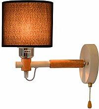 Modern LED Wandleuchte Vintage. Hölzerne kreative
