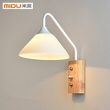Modern LED Wandleuchte Wandlampe Holz Kunst Wand