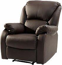 Modern Luxe Fernsehsessel Relaxsessel Leder Sofa