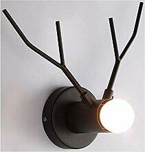 Modern Metall Wandleuchte Mini Geweihe Wandlampe