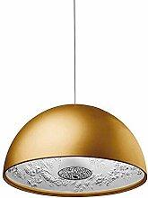 Modern Rund Pendelleuchte E27 Gold Harz und Glas
