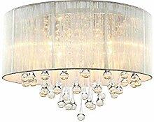 Modern Runde Deckenleuchten Silber Lampen schirm