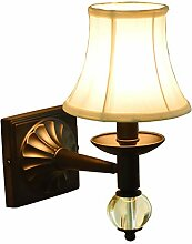 Modern Schlafzinmerleuchte wandlampe mit Metall