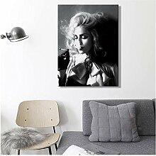 Modern, Schwarz und Weiß, bedruckt, Wand,
