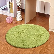 Modern Simplicity Round Teppich Wohnzimmer Schlafzimmer Study Lifts Korb Computer Stuhl Kissen Decke Teppich (grün) ( größe : Diameter 100cm )