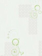 Modern Tapete Grün und Weiß mit glitzernden