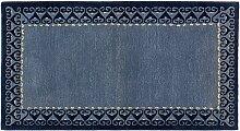 Modern Trend Nepal ca. 140 x 75 cm · Blau · handgeknüpft · Schurwolle · Modern · hochwertiger Teppich · 15543