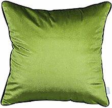Modern und schlicht einfarbig Bett Rückenlehne/Sofakissen Kissenbezüge-C 50x50cm(20x20inch)versionA