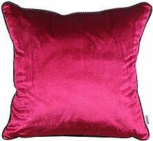 Modern und schlicht einfarbig Bett Rückenlehne/Sofakissen Kissenbezüge-H 45x45cm(18x18inch)VersionB