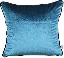 Modern und schlicht einfarbig Bett Rückenlehne/Sofakissen Kissenbezüge-F 45x45cm(18x18inch)VersionB