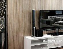 Modern und schlicht einfarbig Vliestapete 0,53 m Leinen vertikale Streifen Tapete * 10 m,D