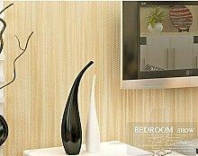 Modern und schlicht einfarbig Vliestapete 0,53 m Leinen vertikale Streifen Tapete * 10 m,A
