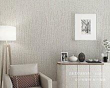 Modern und schlicht plain Tapete Wohnzimmer TV Wand Hintergrundbild 0,53 m * 10 m,B