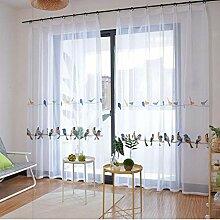Modern Weiße Stickerei Vorhänge Gardine aus