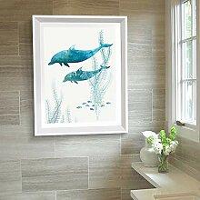 Modern Whale Kunstdrucke auf Leinwand,