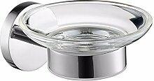 Moderne 304 Edelstahl poliert Silber runde Basis bad accessoires bad Handtuchhalter, Seifenschale