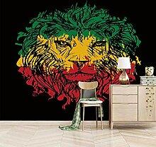Moderne 3D Fototapete Abstract lion 200CM x 175CM