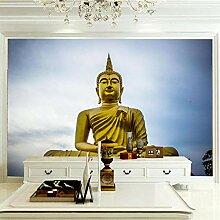 Moderne 3D Fototapete Buddha-Statue 200CM x 140CM