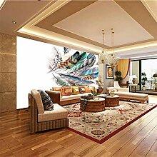 Moderne 3D Fototapete Feder 200CM x 140CM Wandbild