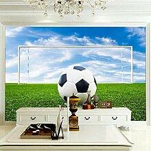 Moderne 3D Fototapete Fußball 250CM x 175CM