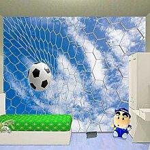 Moderne 3D Fototapete Fußball Wandbild Tapete Tv