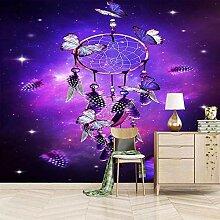 Moderne 3D Fototapete Hippie lila Hintergrund