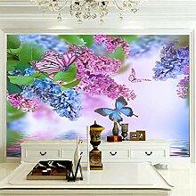 Moderne 3D Fototapete Lavendel 200CM x 140CM
