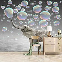 Moderne 3D Fototapete Tierischer Elefant 200CM x