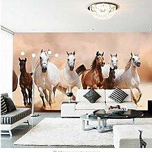 Moderne 3D Pferd Fototapete Wandbild Wohnkultur