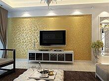 Moderne 3D-Rose getuftet Vliesfasertapete Warm Schlafzimmer Wohnzimmer Sofa Fassung wall-papers, gold