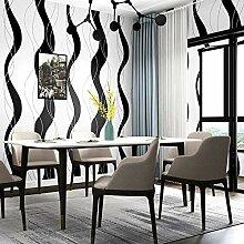 Moderne 3D Tapete Schwarz Weiß Streifen