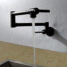 Moderne al Folding Kitchen Sink Mixer Schwarz