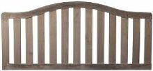 """Moderne, anthrazit Gartenzaun Holz Zaunelemente Maß 180 x 70 auf 83 cm (Breite x Höhe) aus getrocknetem Kiefern Holz, anthrazit lackiert (getaucht) und verschraubt """"Koblenz"""
