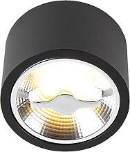 Moderne AR111 LED Deckenleuchte schwarz 12W 2700K