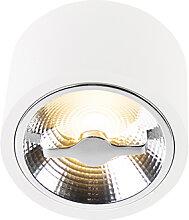 Moderne AR111 LED Deckenleuchte weiß 12W 2700K