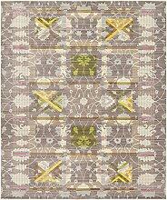 Moderne Aria Zeitgenössische Bereich Teppich, braun, 8 x 10
