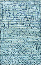 Moderne Aria Zeitgenössische Bereich Teppich, hellblau, 5 x 8