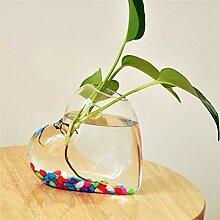 Moderne Arts Vase Herzförmige klare Wand hängen