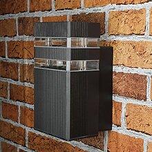 Moderne Außenlampe Anthrazit E27 H:19cm Aluminium