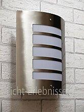 Moderne Außenlampe Edelstahl E27 wetterfest