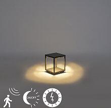 Moderne Außenleuchte dunkelgrau Solar