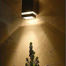 Moderne Aussenleuchte in Anthrazit 3*1W 230V Hoflampe aus Aluminium Terrasse/Garten Garten Terrasse Lampe Leuchten außen