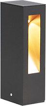 Moderne Außenleuchte LED schwarz mit goldener