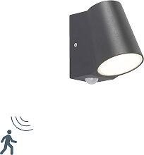Moderne Außenwandleuchte dunkelgrau mit