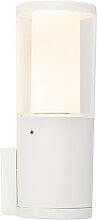 Moderne Außenwandleuchte weiß IP55 inkl. GU10 -