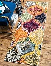 Moderne Barcelona Zeitgenössische Bereich Teppich, multi, 2 x 6